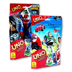 Licensed uno™ games.  This popular card game now comes in your favorite movie characters!