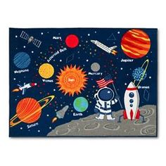 "Solar System Area Rug (40""x54"") Multicolor - Pillowfort™ : Target"
