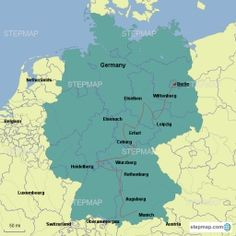 Our Luther Journey in Germany - Map created by Debzigo - Map of Germany