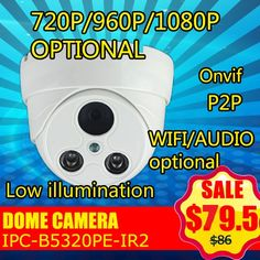 720P/960P/1080P double IR Array LED IR-CUT HD Network IP CCTV Dome Camera Support Onvif P2P Mobil Monitor