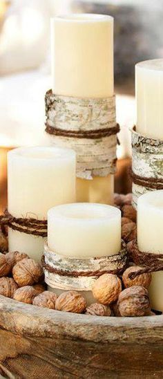 simple rustic charm, love the walnuts   love for all seasons