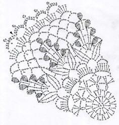 リンドウのドイリー(編み図付き、りんどう、竜胆) : Crochet a little