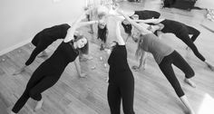 "Do the wild thing on your wedding day with your bridal party! (It's not what you think: Camatkarasana, aka ""the wild thing"", builds all-over body strength and is pictured here uniting the bride and her bridal party in a circle of unity on her special day)."
