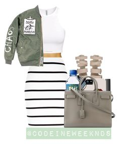 """7:31:15"" by codeineweeknds ❤ liked on Polyvore featuring H&M, River Island, NARS Cosmetics and Yves Saint Laurent"