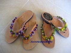 Χειροτέχνημα από Κρήτη - Handmade from Kreta Gladiator Sandals, Shoes, Fashion, Crete, Moda, Zapatos, Shoes Outlet, Fashion Styles, Shoe