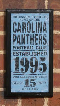 Carolina Panthers Vintage Style Wall Plaque by CrestField on Etsy, $28.00