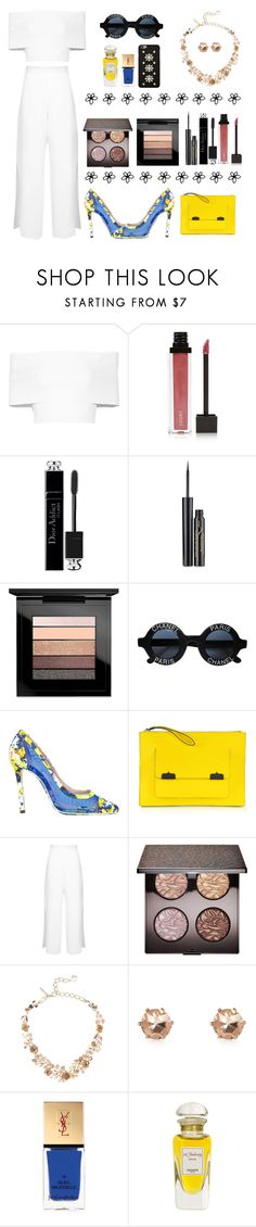 """Popping Colours"" by halrahmah ❤ liked on Polyvore featuring Rosetta Getty, Jouer, Christian Dior, Elizabeth Arden, MAC Cosmetics, Chanel, MSGM, McQ by Alexander McQueen, Miss Selfridge and Laura Mercier"