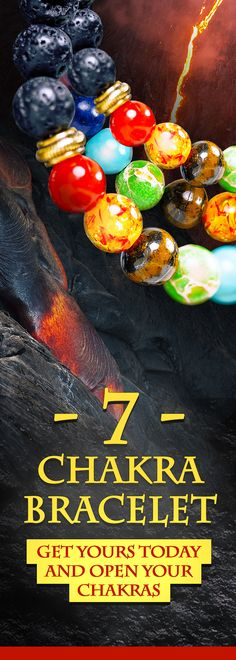 Black Lava Bead Mala Bracelet with 7 Chakra Stones for FREE! https://jewelry.yoga/products/black-lava-beads-with-7-volcanic-chakra-stones