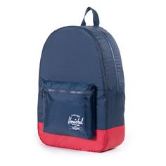 Packable Daypack Navy/Red   ShopPigment