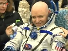 NASA astronaut Scott Kelly was in good spirits after returning to Earth. Credit: NASA TV/Spaceflight Now Scott Kelly, Nasa Astronauts, International Space Station, Good Spirits, Current Events, Earth, Day, Astronomy, Science