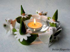 Frühling - Teelichtreigen *Märzengrün* - ein Designerstück von Petite-Fleurette bei DaWanda