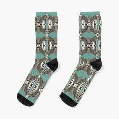 Promote   Redbubble Turquoise Background, Accent Decor, Print Patterns, Socks, Animals, Pretty, Fun, Animales, Animaux