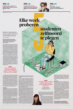 Graphic: Art Direction: Arne Depuydt Assistent Art Direction: Freek De Groote/Joris Van Aken Illustration: Joëlle Dubois © DeMorgen
