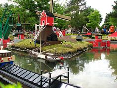 MiniLand Netherlands with its famous windmills - LegoLand Billund -by fdecomite -via Flickr