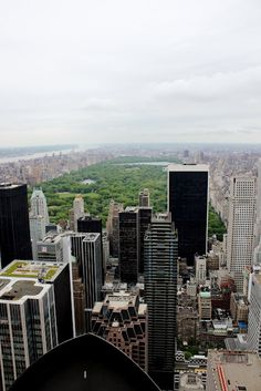 View of Central Park from Rockefeller Center; New York City