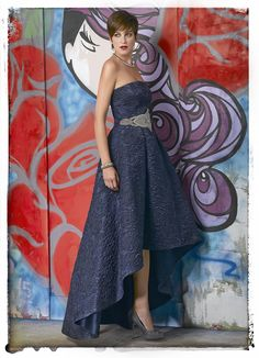 NachoB016_5370_0006 Strapless Dress, Blue, Dresses, Fashion, Mother Of The Bride, Godmother Dress, Party Dresses, Outfits, Boyfriends
