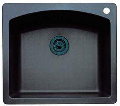 Blanco 440212 Diamond 25-Inch-by-22-Inch Single Bowl Kitchen Sink, Anthracite Finish