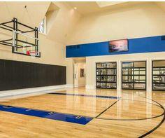 Man cave basketball court