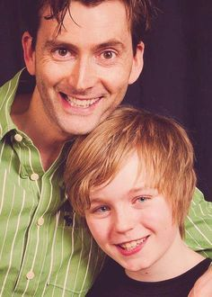 Love this picture of David Tennant, and his son, Tyler,