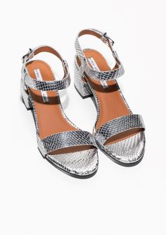 & Other Stories   Croco-Embossed Strap Sandal