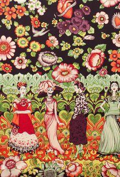 Frida la Catrina Alexander Henry Fabrics