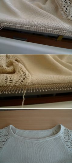 Knitting on a machine. Narrow piping.