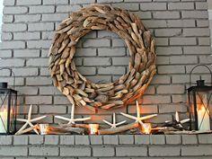 driftwood summer mantel