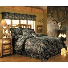 Cabela's Seclusion 3D® Camo 12-Piece Bedroom Ensemble at Cabela's...I'm such a camo lover <3