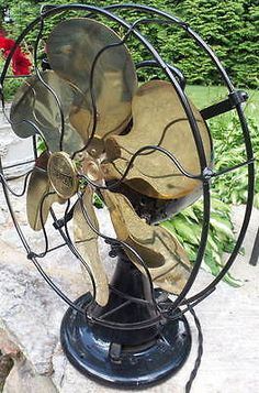 Antique Emerson Oscillating Model 24666 Fan with Six Brass Blades - circa 1918