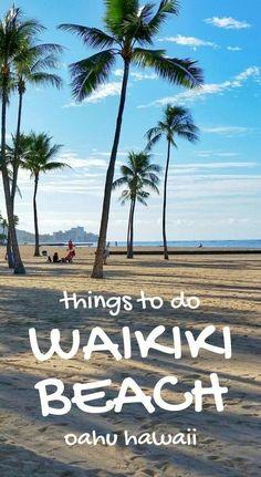 Waikiki Hawaii: Cheap things to do on Oahu hawaii vacation ideas. hawaii travel tips. Hawaii Vacation, Hawaii Travel, Beach Trip, Vacation Spots, Vacation Ideas, Usa Travel, Beach Travel, Travel Tips, Beach Vacations