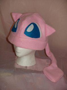POKEMON MEW inspired fleece HAT cosplay by MoonyCouture on Etsy, $25.00 Pokemon Hat, Pokemon Room, Jigglypuff Costume, Fleece Hats, Fleece Blankets, Sewing Patterns, Skirt Patterns, Blouse Patterns, Maxi Dress Tutorials