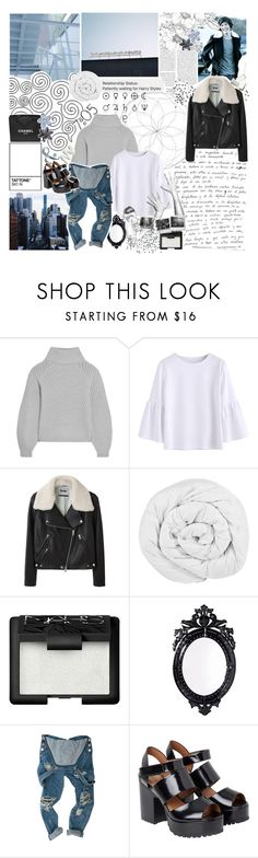 """no, I don't want to meet you nowhere. no, don't want none of your time"" by blueivym ❤ liked on Polyvore featuring Chanel, Tt Collection, Iris & Ink, Acne Studios, The Fine Bedding Company, NARS Cosmetics, Belle Maison and Monki"