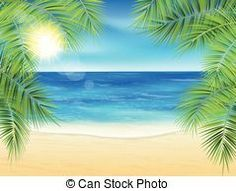 Beach background cartoon wallpaper beach background cartoon hd sand beach and the palm voltagebd Choice Image