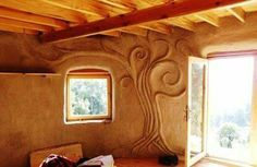 """It's called """"clay plaster"""". Whatever it is, it sure looks cool."""