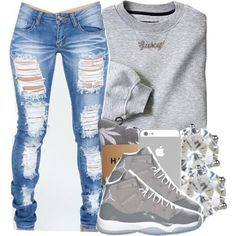 21 Different Fun Ways to Wear Your Jeans (This Winter) Outfits With Jordans d7e42862fb