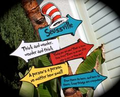 Items similar to Dr. Seuss mesh wreath chevron ribbon on Etsy Hat Quotes, Quotes Quotes, Cat In The Hat Party, Preschool Graduation, Cat Hat, Colorful Party, 1st Birthday Parties, Graduation Parties, Baby Birthday
