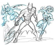 Bat Team plus Wonder Woman- Sketch by tombancroft.deviantart.com on @deviantART