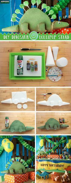 Dinosaur Lollipop Stand DIY Tutorial
