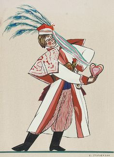 Zofia Stryjeńska (Polish, excerpts from the cycle 'Polish peasant costumes', c. (part Part 1 Popular Costumes, Folk Clothing, Great Paintings, Designer Toys, Folk Costume, Illustrations And Posters, Traditional Outfits, Vintage Posters, Poland
