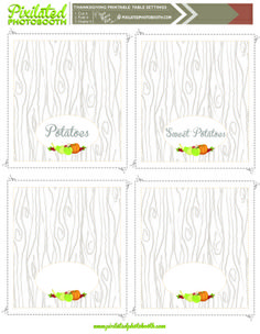 Printable Thanksgiving Place Settings + Wine Tags   D.I.Y. Table Settings #thanksgiving #table #settings #diy #holiday #turkey #decorations #wine #glass #tags #printables #free #getpixilated #craft #project #tablesetting Turkey Decorations, Place Settings, Table Settings, Diy Photo Booth Props, Photobooth Props Printable, Wine Tags, Thanksgiving Table, Free Printables, Glass