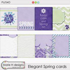 FREE Elegant Spring Cards : designs by Marieh H