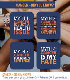 Raise awareness about cancer myths on #WorldCancerDay and every day! www.wheelsforwishes.org