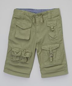 This Olive Cargo Shorts - Toddler & Boys by Sean John is perfect! #zulilyfinds
