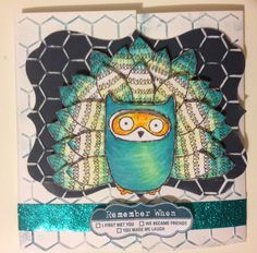 Crouchie's Getting Creative: WHAT A HOOT - S1408 : CTMH Stamp of the Month Australasian Blog Hop #HoneycombEmbossingFolder #ShinHan