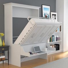 Buy Elegant Queen Murphy Bed With Desk For Sale Online Furniture Store Best Selection Contemporary Murphy Beds Sizes Double, Queen White Color Murphy Beds Queen Murphy Bed, Murphy Bed Desk, Murphy Bed Plans, Murphy Bed Office, Desk Bed, Diy Murphy Bed, Full Size Murphy Bed, Contemporary Murphy Beds, Modern Murphy Beds