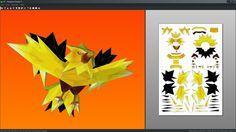 Zapdos pokemon papercraft unfold by Antyyy.deviantart.com on @DeviantArt