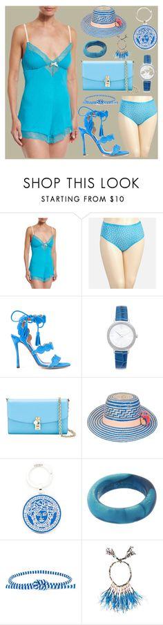 """Summer sale"" by camry-brynn ❤ liked on Polyvore featuring Eberjey, Avenue, Tabitha Simmons, Michael Kors, Dolce&Gabbana, YOSUZI, Versace, Dinosaur Designs, Ports 1961 and Etro"
