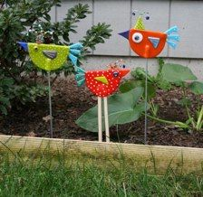 New Flock of Yard BirdsI'm hoping these birds will make up for my lack of gardening skills.@Annie Onderdonk