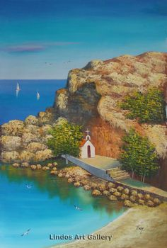 St Pauls Bay and Church Oil Painting