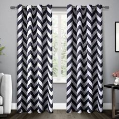 Exclusive Home Mars Woven Blackout Thermal Grommet Top Window Curtain Panel Pair, Indigo, 5284, Blue